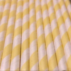 Other - 25 PAPER STRAWS YELLOW
